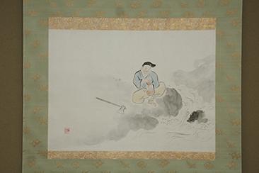 〈拝服席〉正客に上野道善猊下をお迎えしてお点前をされる若宗匠